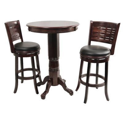 Boraam Industries Inc Sumatra 3 Piece Pub Table Set