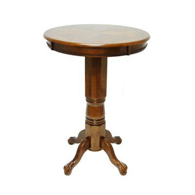 Boraam Industries Inc Florence Pedestal Pub Table in Walnut