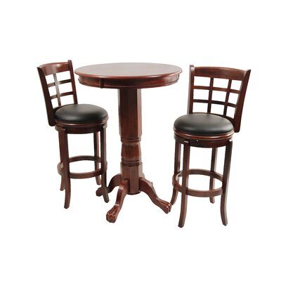 Boraam Industries Inc Kyoto 3 Piece Pub Set in Light Cherry