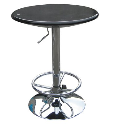 Luna Adjustable Pub Table in Black