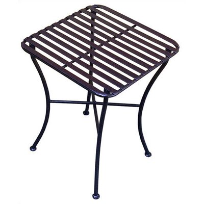 Folding Iron Square Side Table