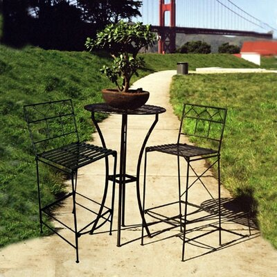 Pangaea Home and Garden Folding Bar Table and Stools Set