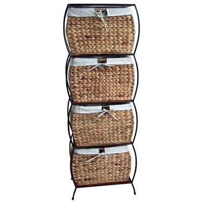 Pangaea Home and Garden Rattan Four Drawer File Cabinet