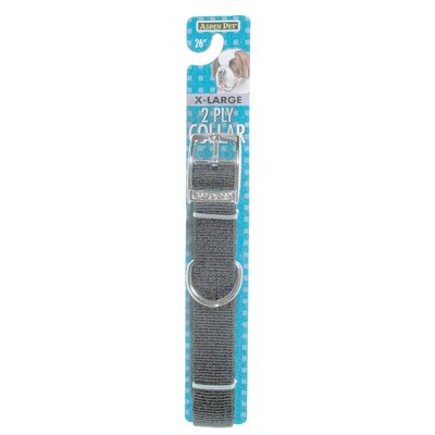 Petmate Aspen Pets 2-Ply Dog Collar in Black
