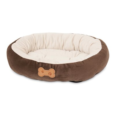 Petmate Round Bolster Dog Bed with Bone Applique