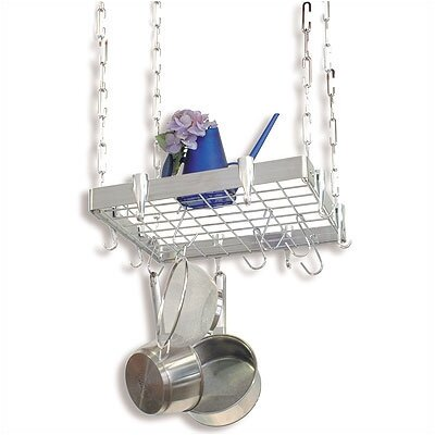Square Stainless Steel Hanging Pot Rack