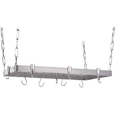Rectangular Steel Hanging Pot Rack