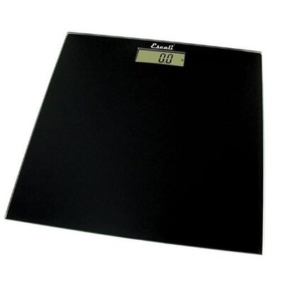 Black Square Glass Platform Bathroom Scale