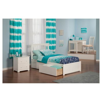 <strong>Atlantic Furniture</strong> Urban Lifestyle Mission Bed with Bed Drawers Set