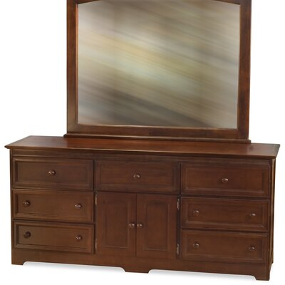 Atlantic Furniture Manhattan 7 Drawer Dresser with Mirror