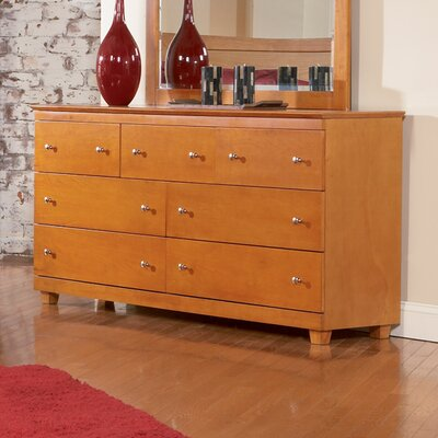 Atlantic Furniture Miami 7 Drawer Dresser with Mirror