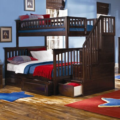Atlantic Furniture Columbia Staircase Bunk Bed with Raised Panel Drawers