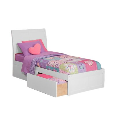 <strong>Atlantic Furniture</strong> Urban Lifestyle Portland Bed with 2 Bed Drawer Sets