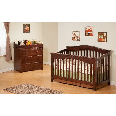 Atlantic Furniture Windsor 4-in-1 Convertible Crib Set