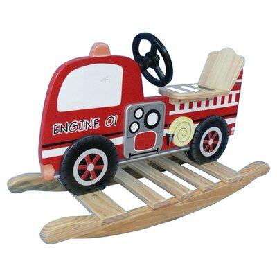 Teamson Kids Trains and Trucks Fire Engine Rocker
