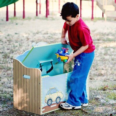 Teamson Kids Transportation Toy Box