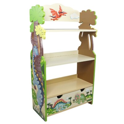 "Teamson Kids Dinosaur Kingdom Children's 37.75"" Bookcase"