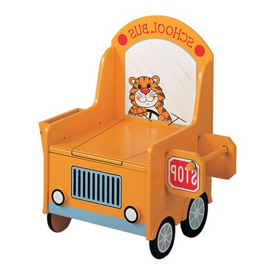 Teamson Kids Potty School Bus Themed Kid's Novelty Chair