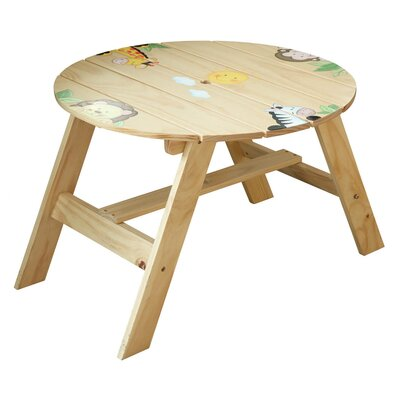 Teamson Kids Sunny Safari Kids' 4 Piece Table and Chair Set