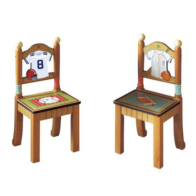 Teamson Kids Little Sports Fan Kid's Desk Chairs (Set of 2)