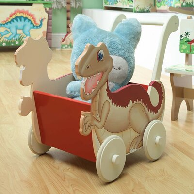 Teamson Kids Dinosaur Kingdom Children's Wheels Push Cart