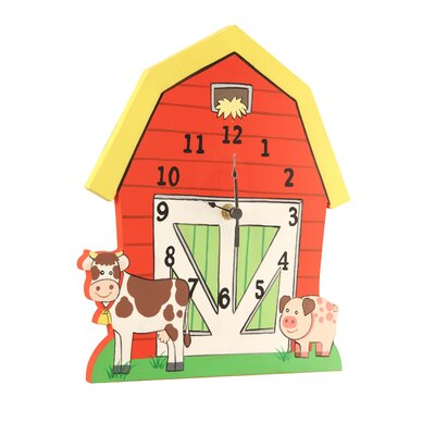 Happy Farm Room Wooden Wall Clock