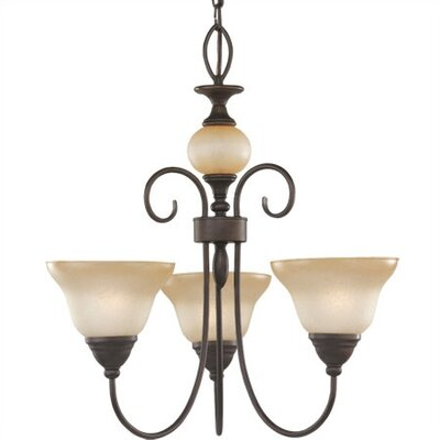 Sea Gull Lighting Montclaire 3 Light Chandelier