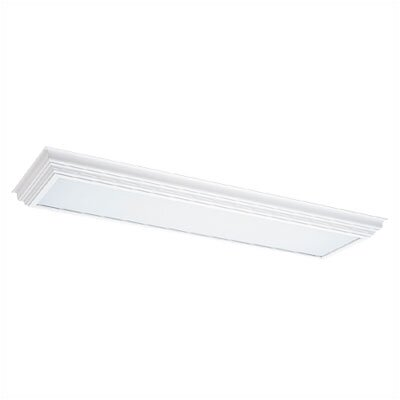 Sea Gull Lighting White Wood Cornice Fluorescent Trim (50 3/8''L x 15 3/8''W )