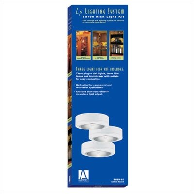 Sea Gull Lighting Ambiance  White Plug-In Disk Lighting Kit