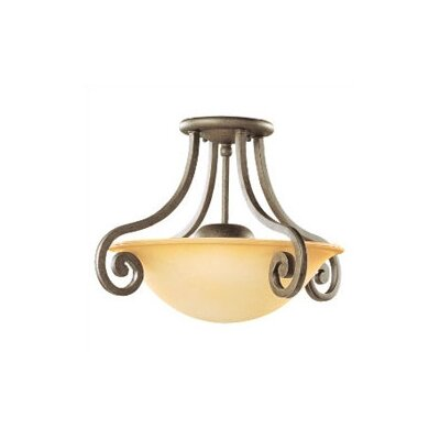 Sea Gull Lighting Brandywine 2 Light Semi Flush Mount