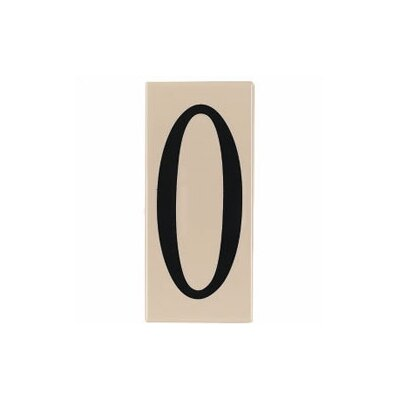 "Sea Gull Lighting Ambiance ""0"" Address Number Tile in Creme"