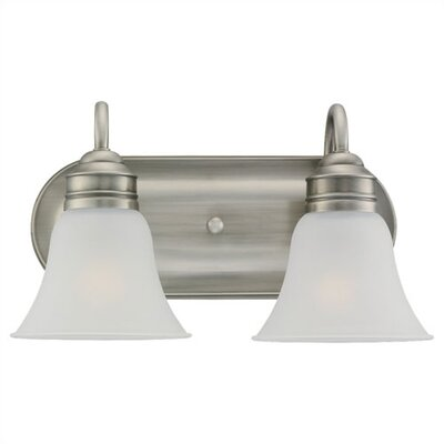 Sea Gull Lighting  Fluorescent Vanity Light in Antique Brushed Nickel and Satin Etched Glass - Energy Star