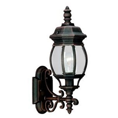Sea gull lighting colonial 1 light outdoor wall lantern for Outdoor colonial lighting