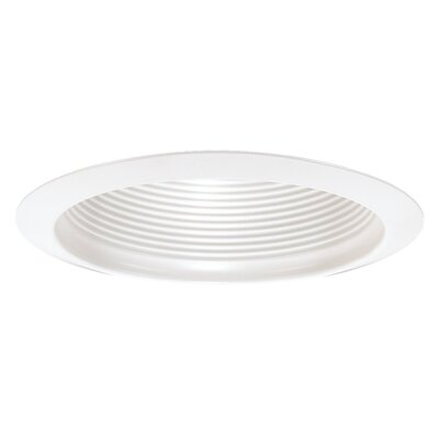 Sea Gull Lighting Recessed Trim with Black Baffle in White
