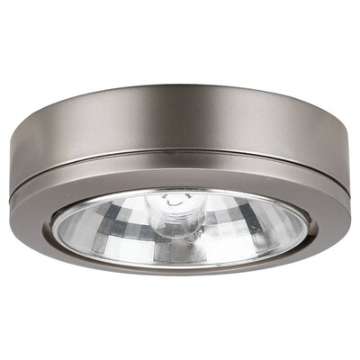 Sea Gull Lighting Ambiance Accent Disk Light with Housing in Brushed Nickel