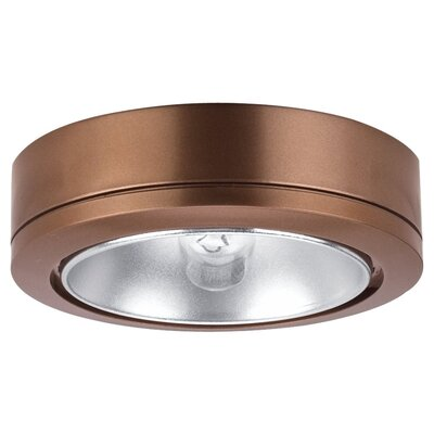 Sea Gull Lighting Ambiance Disk Light with Housing in Cinnamon
