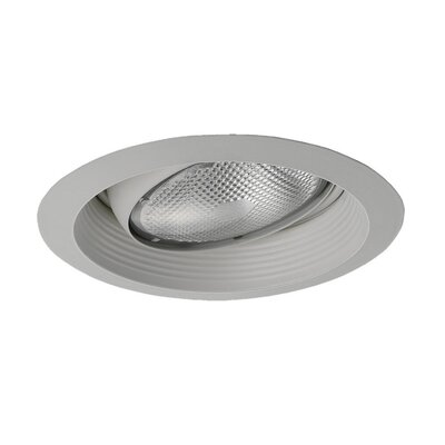 Sea Gull Lighting Eyeball Recessed Trim with Regressed Metal Baffle in White