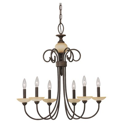 Sea Gull Lighting Montclaire 6 Light Chandelier