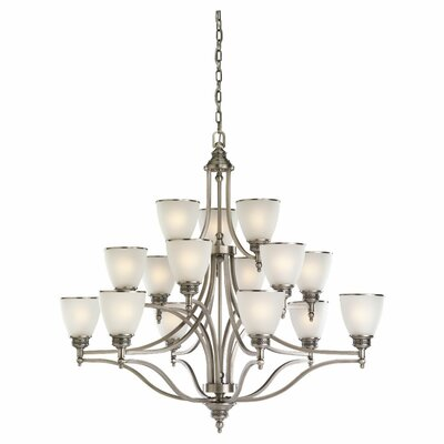 Sea Gull Lighting Laurel Leaf 15 Light Chandelier