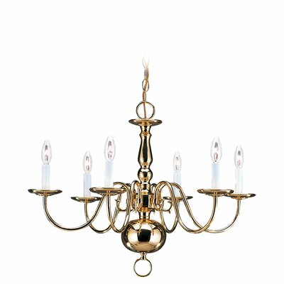 Traditional Chandelier - Polished Brass Finish