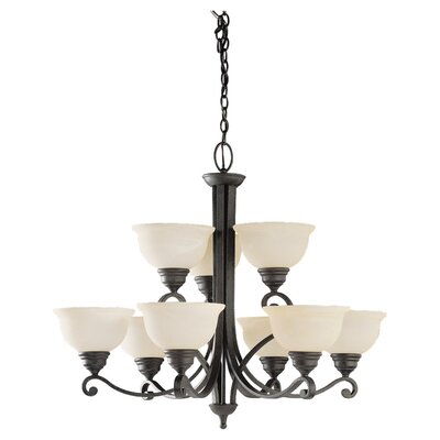 Sea Gull Lighting Serenity 9 Light Chandelier