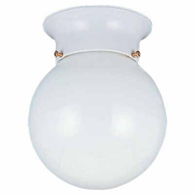 "Sea Gull Lighting 6"" 1 Light 60W Flush Mount"