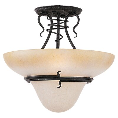 Sea Gull Lighting Saranac Lake 3 Light Convertible Inverted Pendant