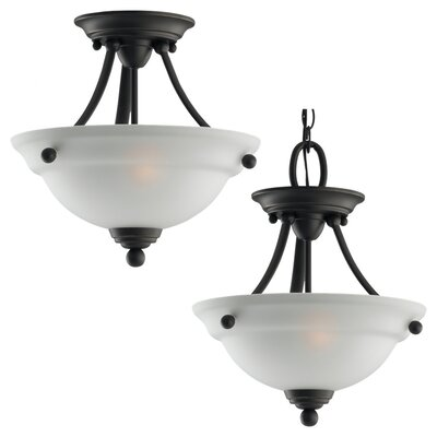Sea Gull Lighting Wheaton 2 Light Semi Flush Mount