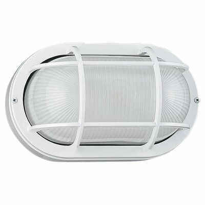 Sea Gull Lighting Oval Commercial 1 Light Outdoor Wall Sconce