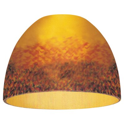 Sea Gull Lighting Dome Glass Shade in Amber Rhapsody