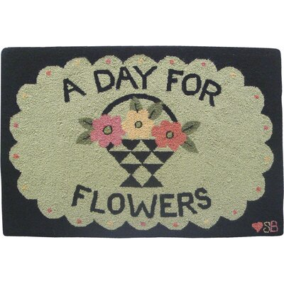 Susan Branch Home A Day For Flowers: 2' x 3' - Green Rug