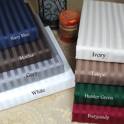 Simple Luxury 400 Thread Count Egyptian Cotton Stripe Pillowcase Pair