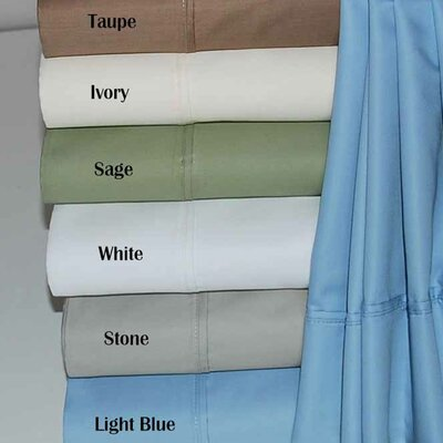 Simple Luxury 600 Thread Count Cotton Rich Split King Solid Sheet Set