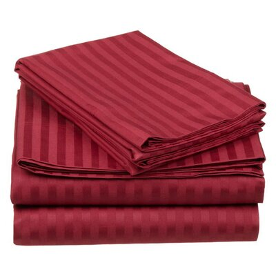 Simple Luxury 650 Thread Count Egyptian Cotton Olympic Queen Stripe Sheet Set